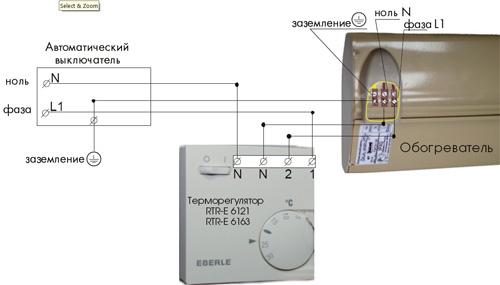 Монтаж системы с инфракрасными обогревателями