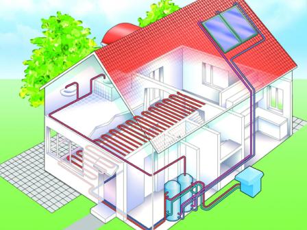 Схема отопления на солнечных