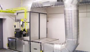Воздушный обогрев производственного помещения