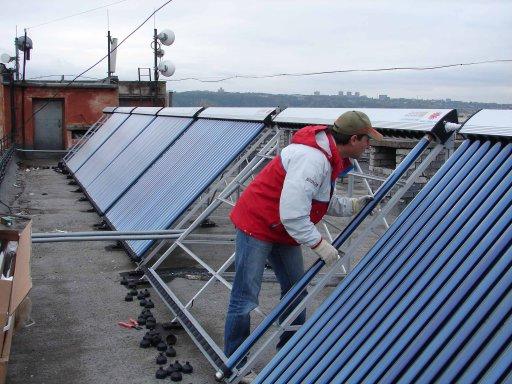 Установка солнечного отопления