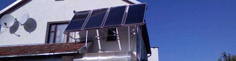 Устройство в доме солнечного отопления
