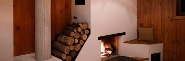Обогрев дома дровяной печью