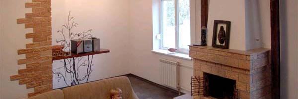 Частный дом, отапливаемый печью