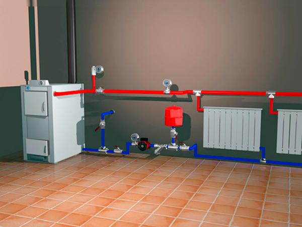 Использование водяного отопления