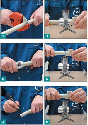 Этапы установки системы отопления из полипропилена