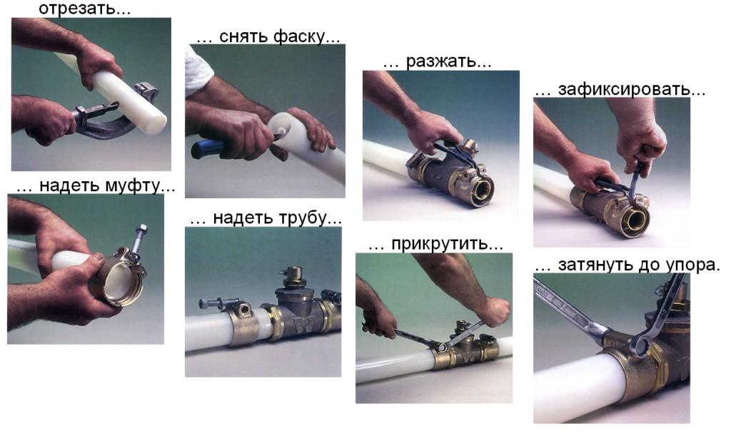 Набор инструментов и приспособлений для монтажа