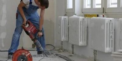 Работы в доме по созданию отопления