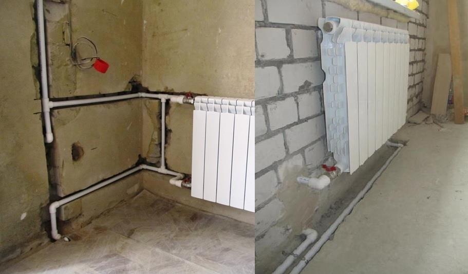 Различные виды установки отопления