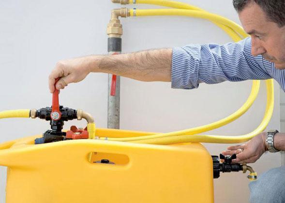 Очистка труб и радиаторов водой
