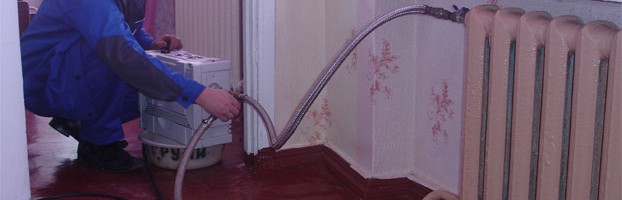 Гидропневматическая очистка системы отопления дома