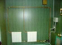 Однотрубная и двухтрубная самотечная система отопления