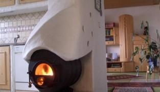 Твердотопливная печь с котлом водяного отопления